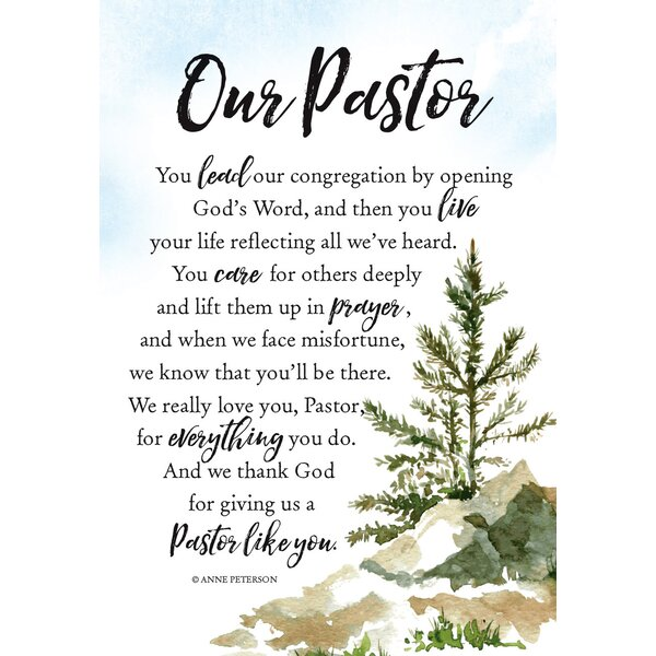 Woodland Grace Our Pastor Textual Art on Wood by Dexsa