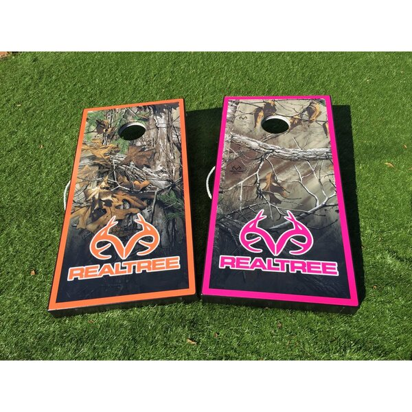 Colored Border Realtree Camo 10 Piece Cornhole Set by West Georgia Cornhole