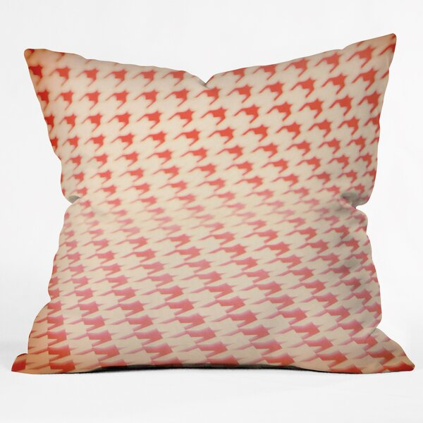 The Light Fantastic Houndstooth Polaroid Throw Pillow by Deny Designs