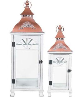 Looking for Decorative Metal/Wood Lantern By Canora Grey