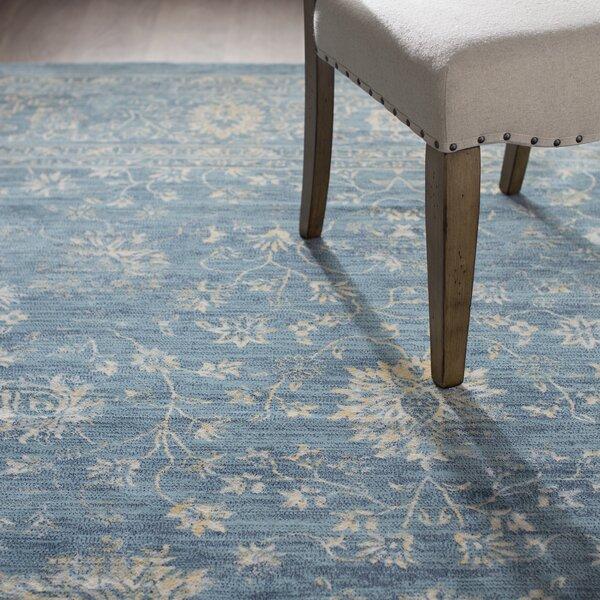 Melia Blue/Beige Area Rug by Lark Manor