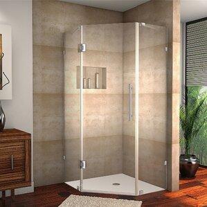 neoscape completely frameless neoangle hinged shower enclosure - Shower Stalls