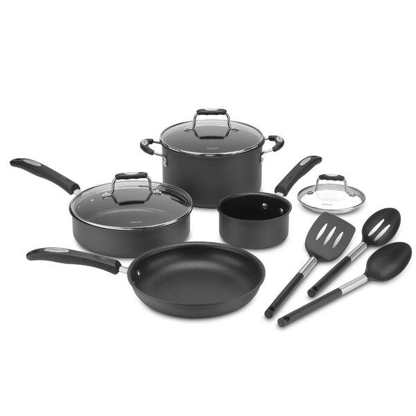 10 Piece Hard Non-Stick Cookware Set by Cuisinart
