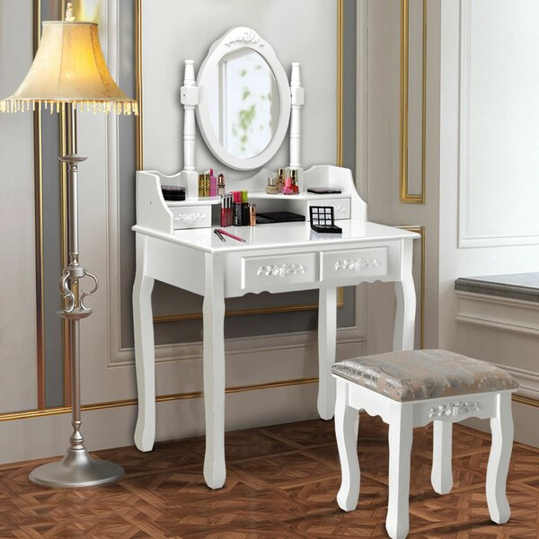Edna Vanity Set with Mirror by House of Hampton
