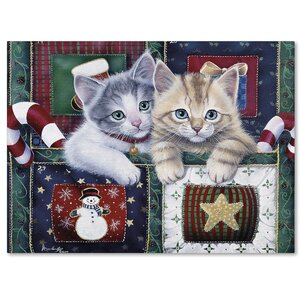 Christmas Calendar Kittens by Jenny Newland Graphic Art on Wrapped Canvas by Trademark Fine Art