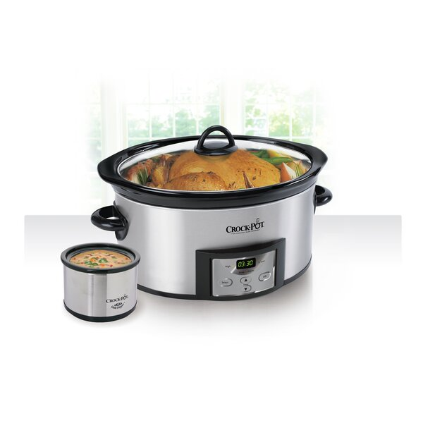 6 Qt. Countdown Digital Slow Cooker with Little Dipper® Warmer by Crock-pot