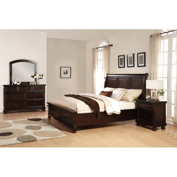Brishland Queen Platform 4 Piece Bedroom Set by Roundhill Furniture
