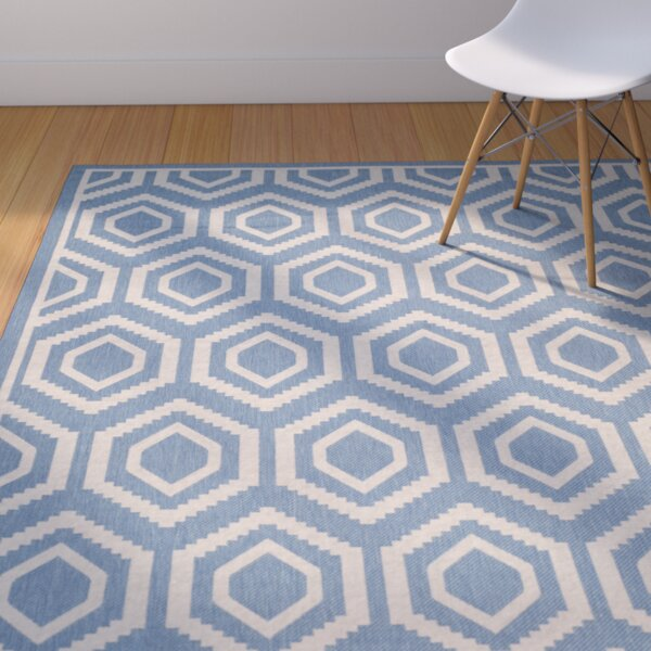 Catharine Blue/Beige Outdoor Area Rug by George Oliver