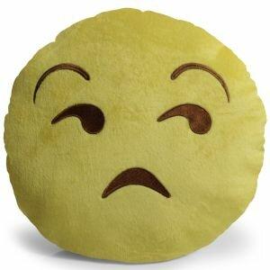 Emoji Unamused Throw Pillow by OxGord