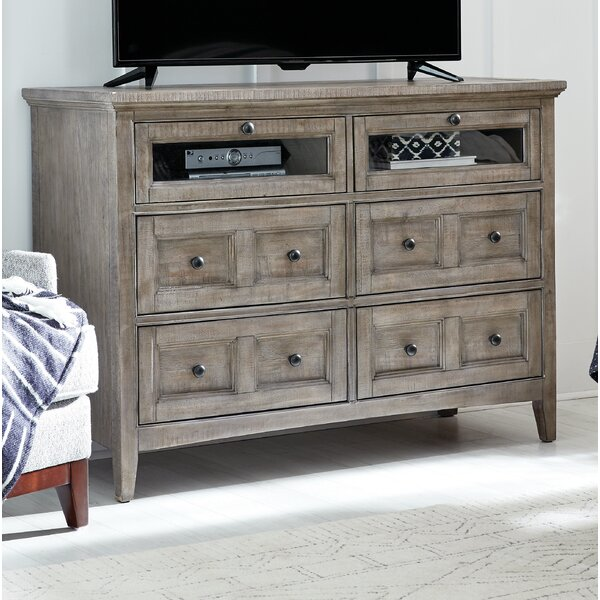 Heidi Wood 4 Drawer Media Chest by Darby Home Co