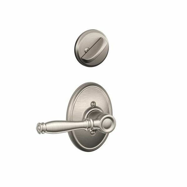 Interior Handleset Birmingham Lever and Interior Single Cylinder Deadbolt Thumbturn with Wakefield Trim by Schlage
