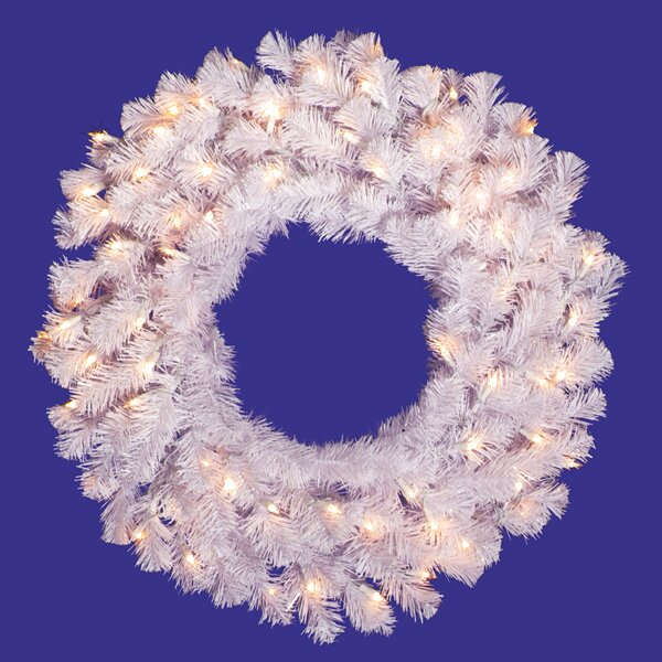 24 Lighted Artificial Crystal Christmas Wreath by Vickerman