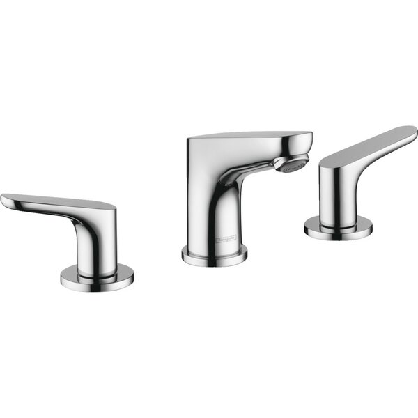 Focus E Widespread Bathroom Faucet with Drain Assembly by Hansgrohe Hansgrohe