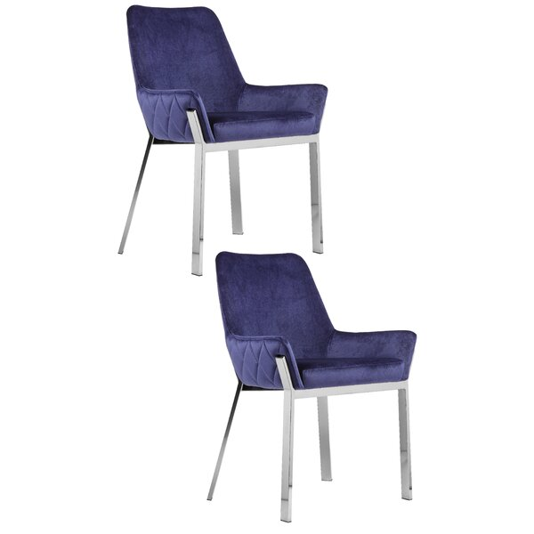 Hudson Upholstered Dining Chair (Set of 2) by Everly Quinn