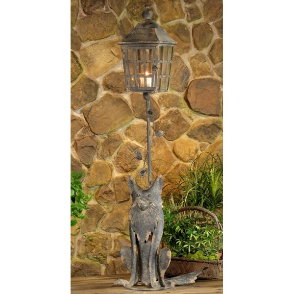 Hartleton Fox Lantern 1-Light 54.75 Post Light by August Grove