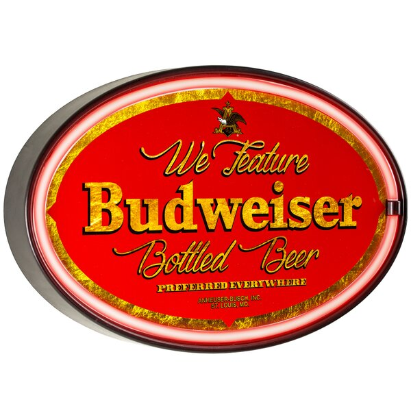 Budweiser Man Cave Bar Garage LED Marquee Sign by Crystal Art Gallery