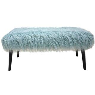 Areli Faux Fur Bench by House of Hampton SKU:DC160030 Details