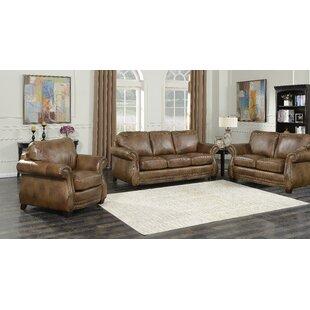 Simone Genuine Leather Living Room Set by Fleur De Lis Living