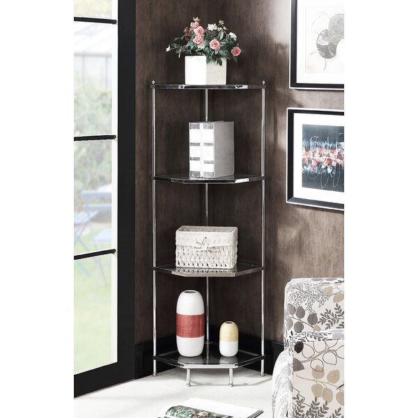 Tressie 4 Tier Corner Unit Bookcase by Orren Ellis