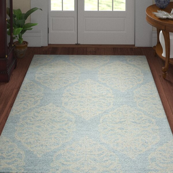 Nordmeyer Hand-Tufted Light Blue Area Rug by Three Posts