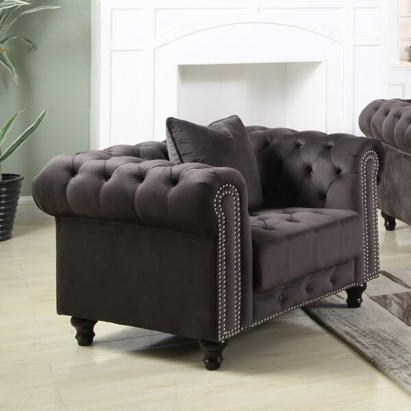 Leyton Upholstered Chesterfield Chair by Canora Grey
