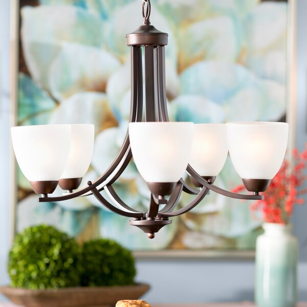 Hayden 5-Light Shaded Chandelier by Andover Mills
