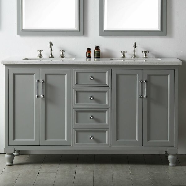 Haddington 60 Double Vanity Set by Gracie Oaks
