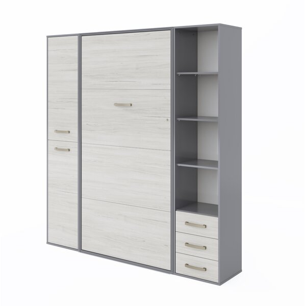 Bayviewpark Twin Storage Murphy Bed with Mattress by Orren Ellis