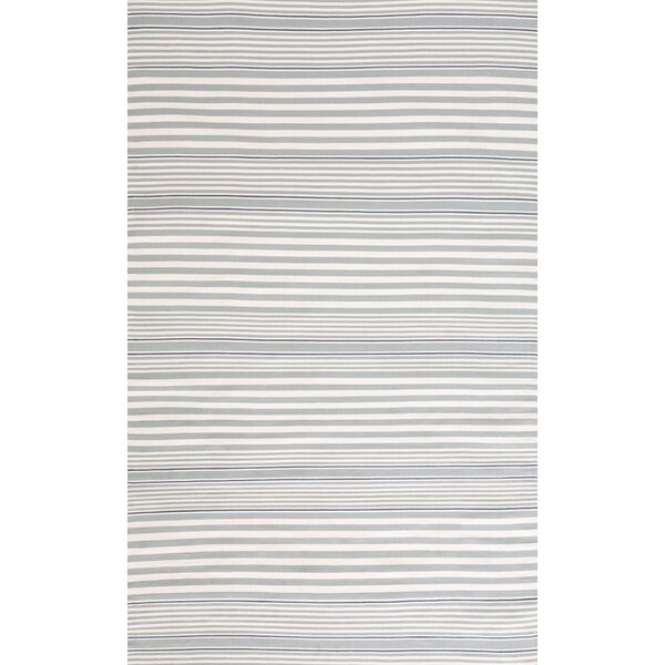 Hand-Woven Gray Indoor/Outdoor Area Rug by Dash and Albert Rugs