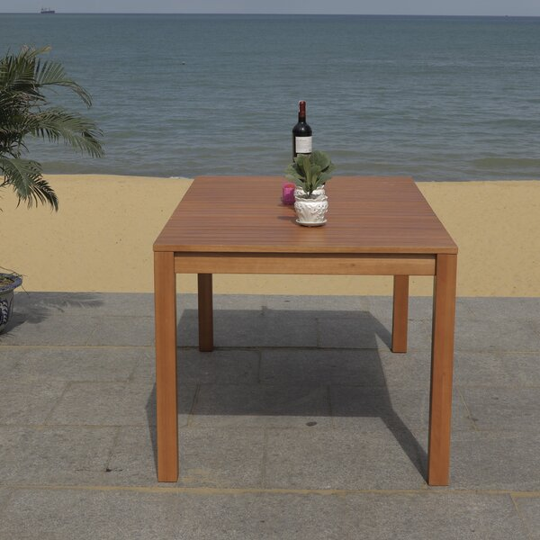 Upper Shockerwick Wooden Dining Table by Highland Dunes