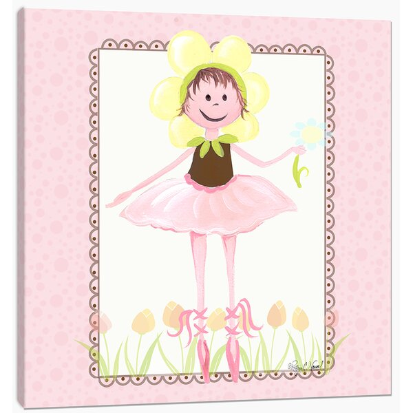 Ballerina Twinkle Toes Canvas Art by Doodlefish