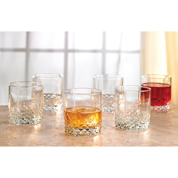 Wendover 11 Oz Double Old Fashioned Glass Set Of 6 By Three Posts.