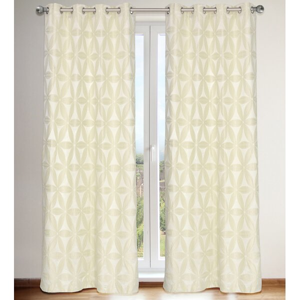 Daisy Curtain Panels (Set of 2) by LJ Home