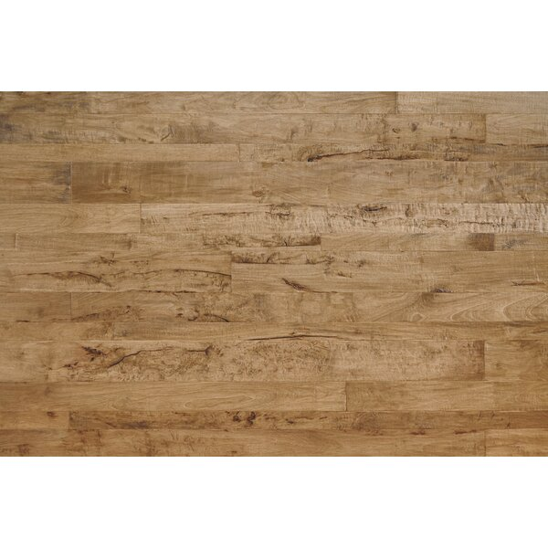 Antigua Random Width Engineered Shiranga Hardwood Flooring in Lava by Mannington