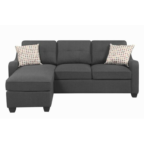 Bloxom Reversible Sectional with Ottoman by Winston Porter