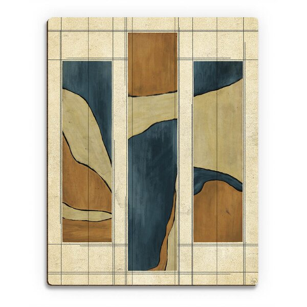 Marble Bars Blue And Orange Painting Print on Plaque by Click Wall Art