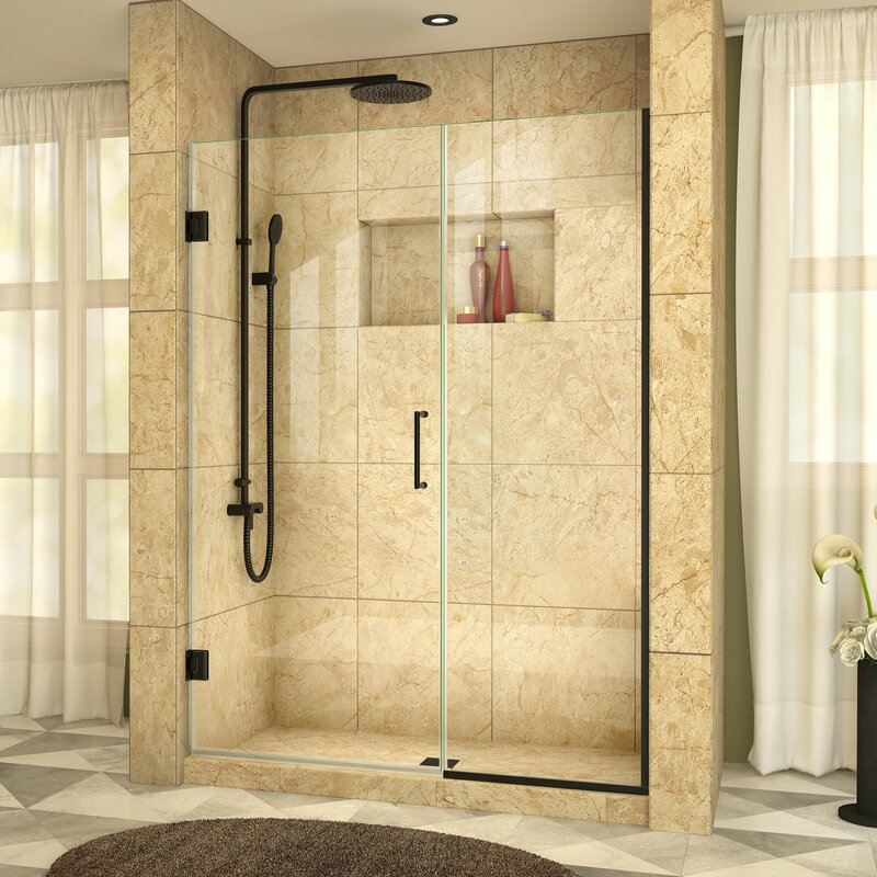 to showers frameless door slide with by glass home inline blizzard notch doors panel shower
