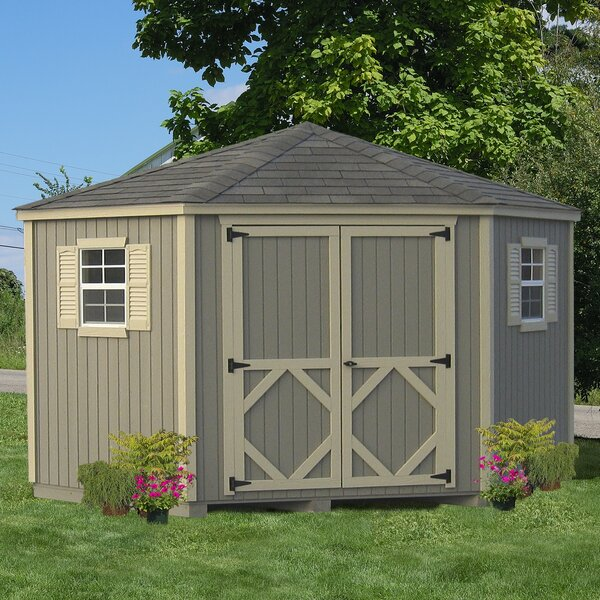 Classic 10 ft. W x 10 ft. D Wooden Storage Shed by Little Cottage Company