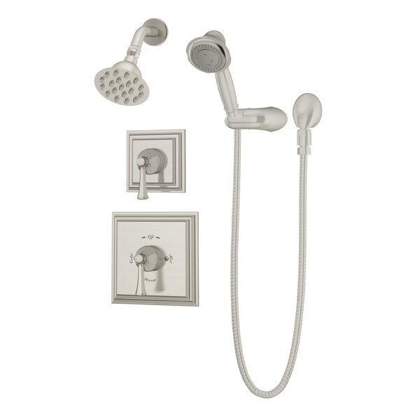 Canterbury Thermostatic Handheld and Fixed Shower Faucet Trim with Lever Handles by Symmons