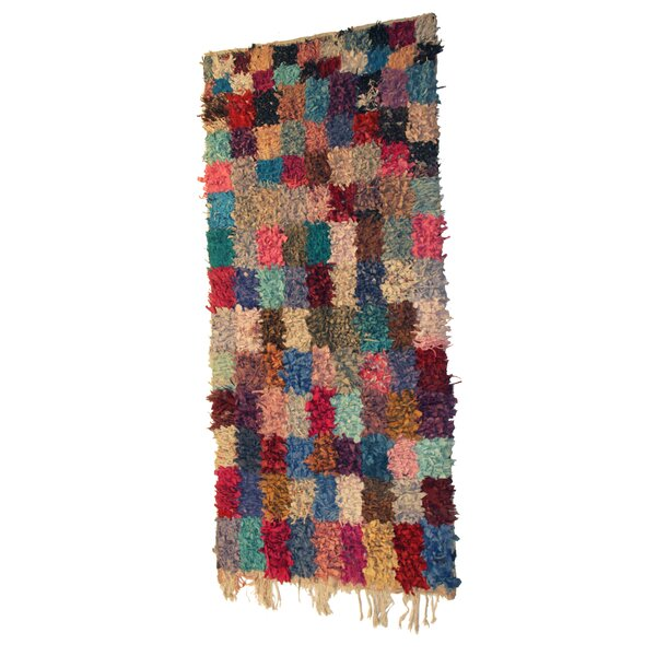 Boucherouite Azilal Hand-Woven Blue/Brown Area Rug by Casablanca Market
