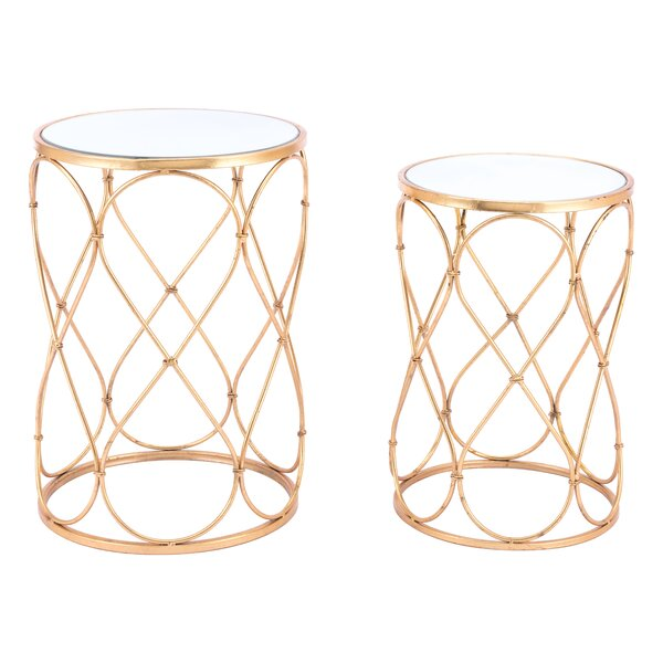 Holsey Twist 2 Piece Nesting Table Set by Mercer41