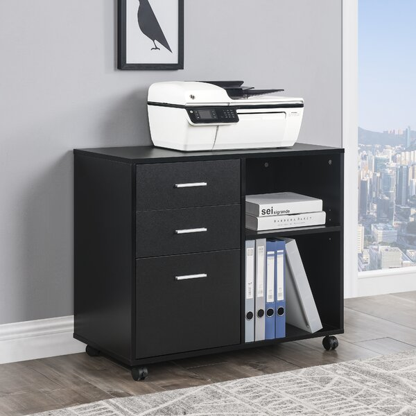 Office 2-Drawer Mobile Lateral Filing Cabinet