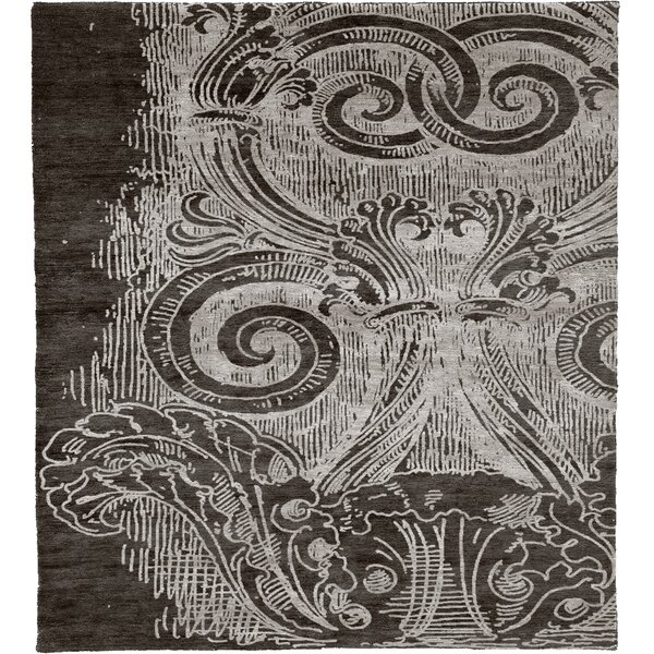 One-of-a-Kind Bellevue Hand-Knotted Traditional Style Gray 12' x 18' Wool Area Rug