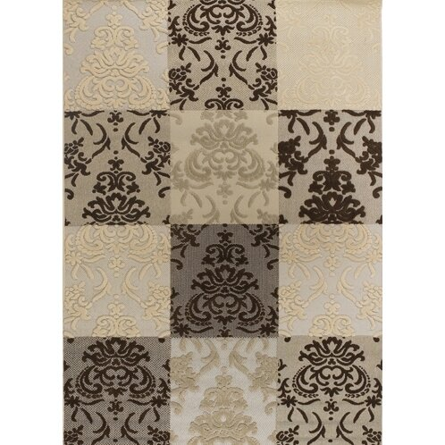 Dom Brown & White Indoor/Outdoor Area Rug by Ophelia & Co.