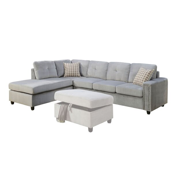 Workington Reversible Sectional With Ottoman By Alcott Hill