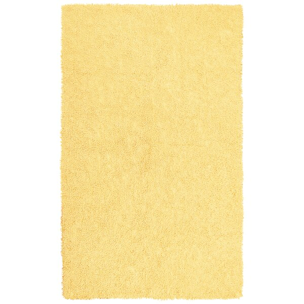 Baugh Shag Chenille Yellow Area Rug by Ebern Designs