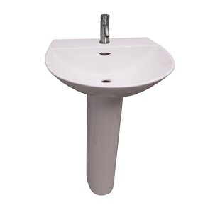 Best Reviews Reserva 550 Vitreous China 22 Pedestal Bathroom Sink with Overflow By Barclay
