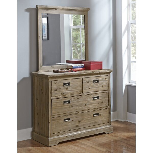 Elise 4 Drawer Dresser and Mirror by Grovelane Teen