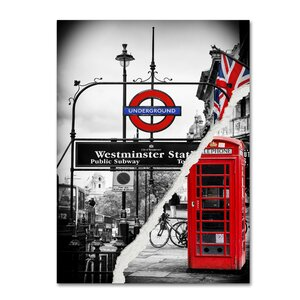 Westminster Station by Philippe Hugonnard Photographic Print on Wrapped Canvas by Trademark Fine Art