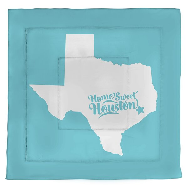 Texas Houston Single Reversible Comforter
